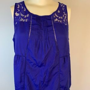 Worthington XL Sleeveless Top with Lace Inlay